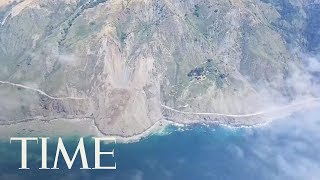 California Landslide Buries Big Sur Highway Under Rocks And Dirt | TIME thumbnail