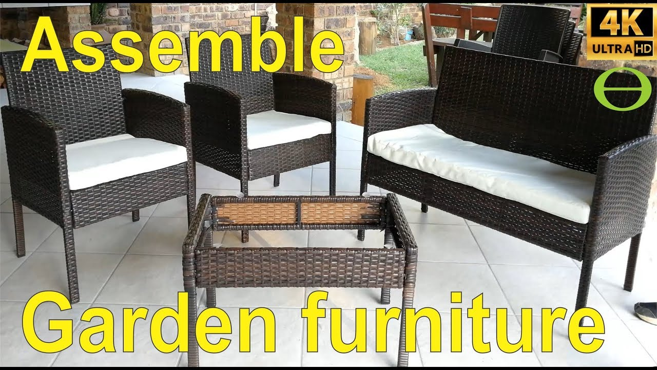 how to assemble rattan garden furniture step by step