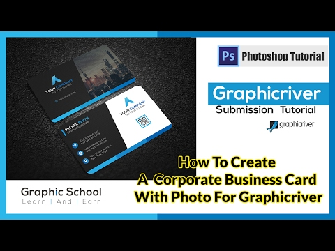 How To Create A Corporate Business Card With Photo For Graphicriver | Photoshop Tutorial