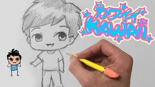 How To Draw a Kawaii Chibi BOY for Beginners - Easy Step by Step Tutorial