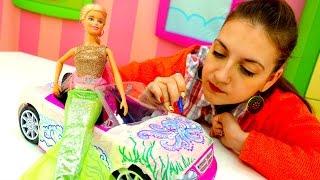 Игры для девочек: фломастеры и новая машина для Барби