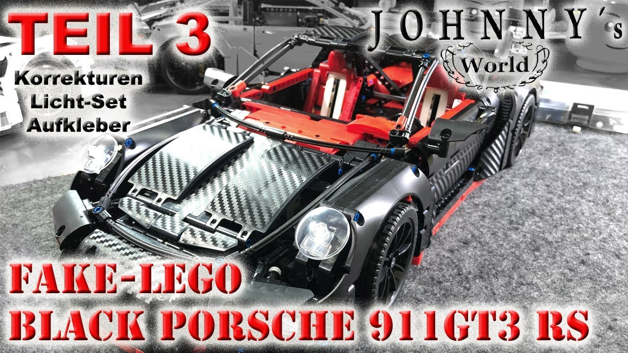 Part 3 Fake Lego Black Porsche 911gt3 Rs Corrections Light Sets And Stickers