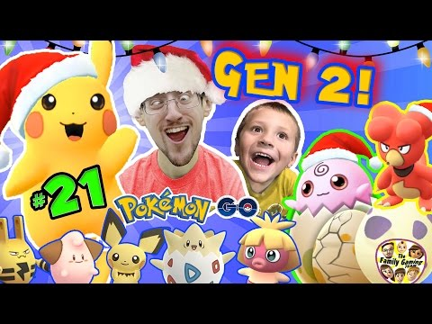 CHRISTMAS POKEMON GO  FGTEEV Gen 2 Eggs Hatching Surprise! Elekid, Pichu, Togepi, Magby ++#21 |