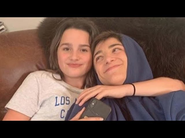 Annie LeBlanc Cuddling With Asher Angel on the Couch | FOOTAGE