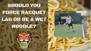 Should I Force Racquet Lag?   The Secret Behind a Big Forehand