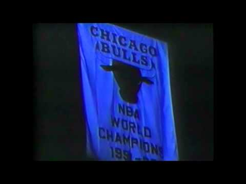 Bill Cartwright & Michael Jordan Speak During Bulls Ring Ceremony