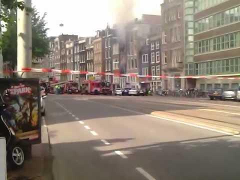 Brand Amsterdam Centrum Nieuwezijds Voorburgwal