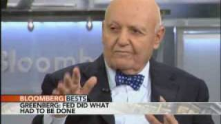 Ace Greenberg Says Bernanke `Did a Great Job