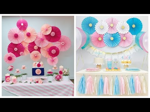 Beautiful Paper Fan Flowers and how to use them to arrange them on a Backdrop