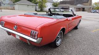 1964 and half mustang convertible red for sale at www coyoteclassics com