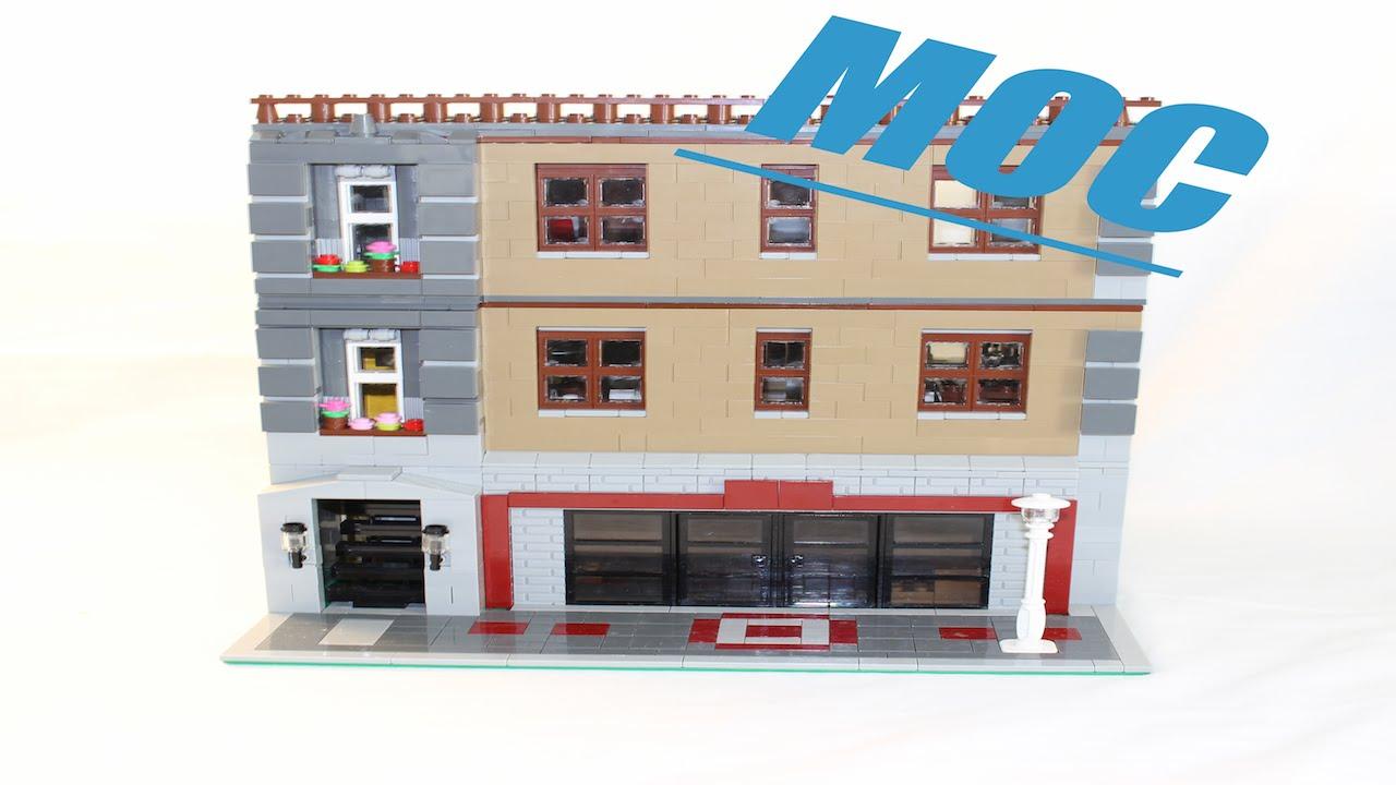 Lego Apartment And Coffee Shop Modular Moc Youtube