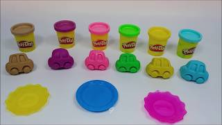 Car Mold Play Doh and Truck Trailer with Cupcake