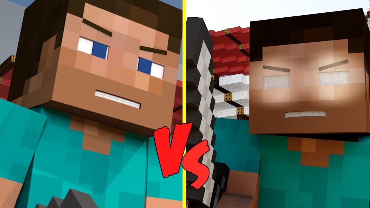 Steve v.s Herobrine (Minecraft Animation) - YouTube