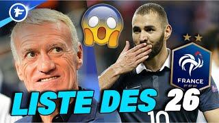 Liste des 26 pour l'Euro : Karim Benzema fait son grand retour en équipe de France !