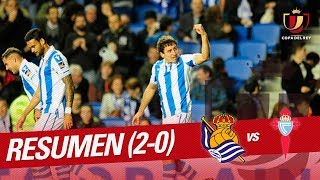 Resumen de Real Sociedad vs RC Celta (2-0)