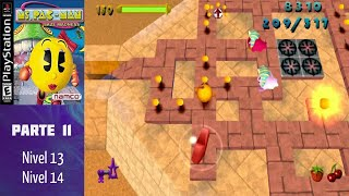 Ms. Pac-Man Maze Madness (PS1) (Español) (100%) - Parte 11: Nivel 13-14