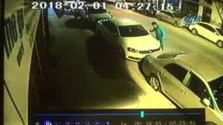 Eskişehir Haber - Alkollü genç araçlara zarar verirken saniye saniye görüntülendi
