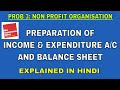 Problem 3 on Accounting for Non Profit Organisations