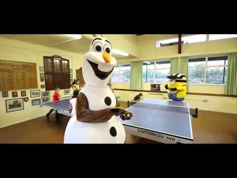 Olaf Vs Minion Table Tennis