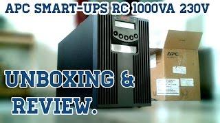 APC Smart-UPS RC 1000VA 230V (1 KVA UPS) Unboxing & Review.