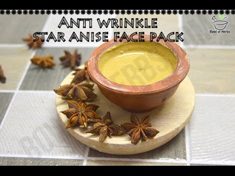 Star anise face pack to prevent wrinkles - Beauty remedy