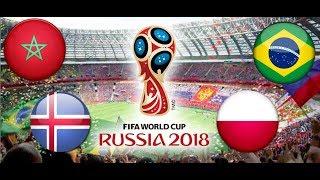 TURNIEJ PANINI FIFA WORLD CUP RUSSIA 2018 MAROKO - ISLANDIA , BRAZYLIA - POLSKA