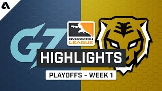 Guangzhou Charge vs Seoul Dynasty   Playoffs Week 1 - Overwatch League S2 Highlights