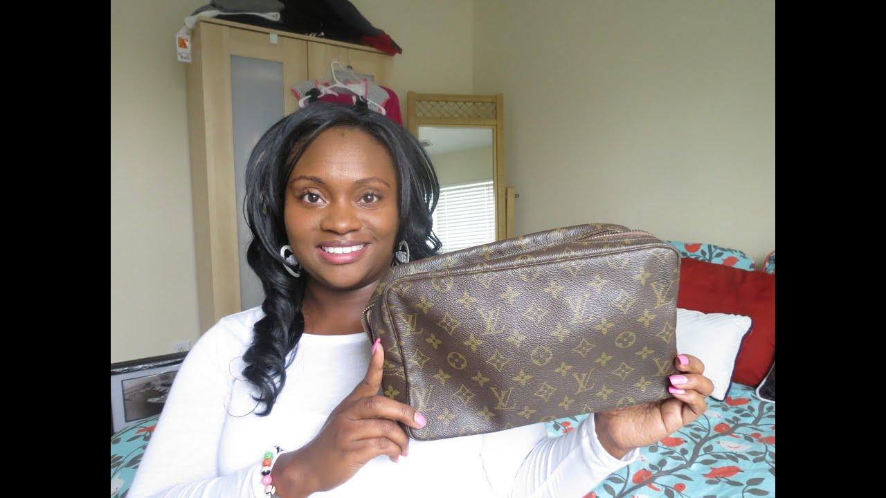9ec674e4e203 Unboxing Louis Vuitton  Trousse Cosmetic  Toiletry Bag - YouTube