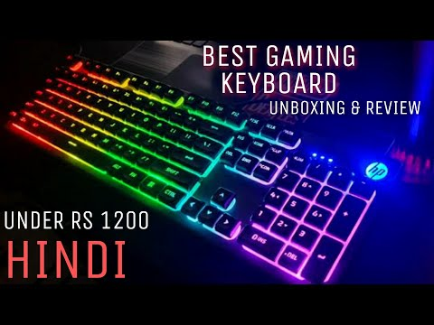 Best Gaming RGB keyboard HP K500F 2020 || HINDI || UNBOXING & REVIEW || Mr. Lazzy Gamer