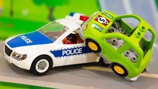 Видео для детей. Полицейская тачка догоняет супер быстрые гонки. Мультики про машинки 2019