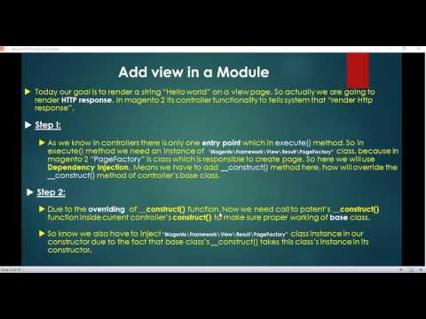 Part 7 How to add view in a magento 2 module