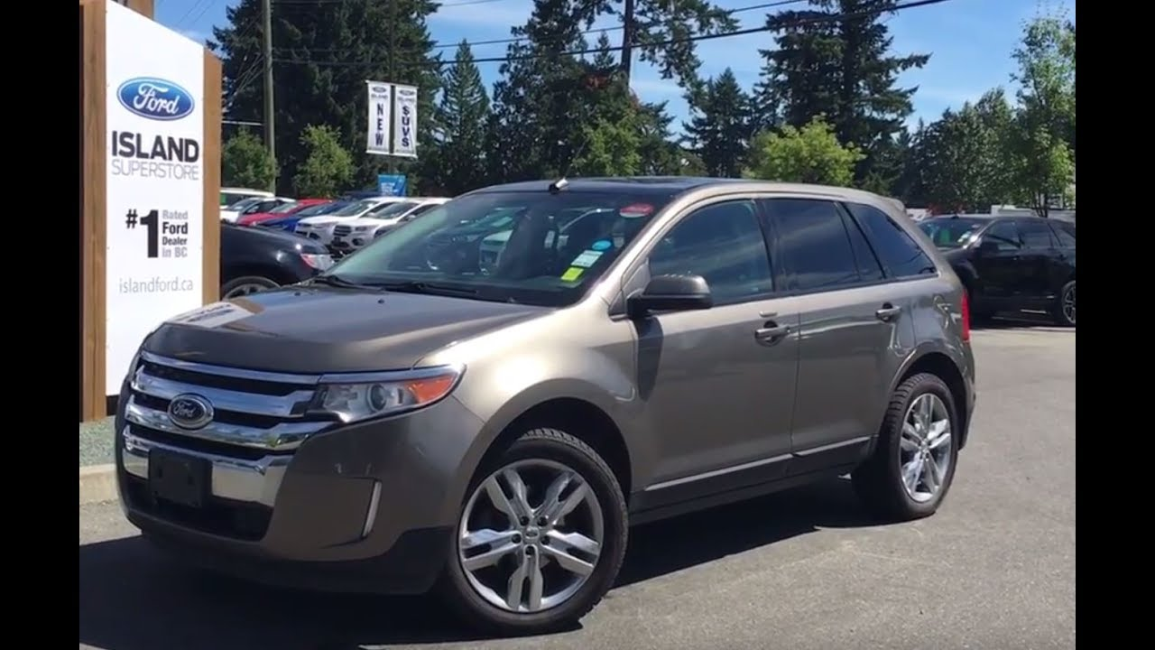 2013 ford edge sel awd w backup camera leather heated seats review island ford youtube. Black Bedroom Furniture Sets. Home Design Ideas