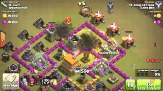 Clash of clans - th6 vs th6 best attack strategy full balloon. Attack