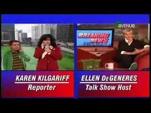 Breaking News on the Ellen Show