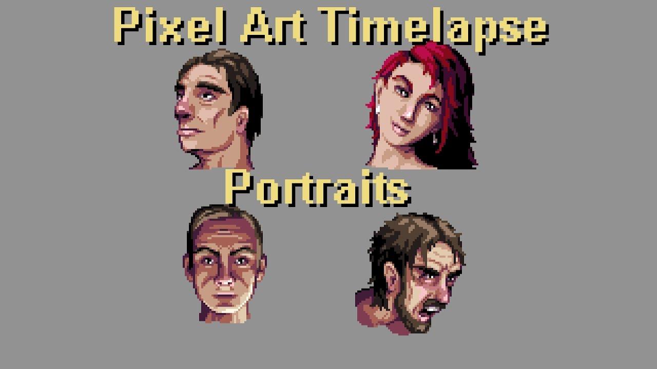 Pixel Art Timelapse - Portraits