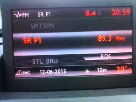 SR P1 Swedish radio received in Belgium