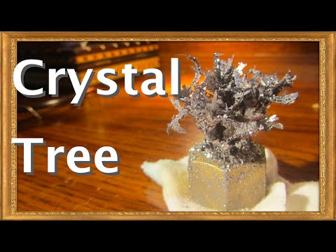 How To Grow A Lead Crystal Tree! Old Alchemy Demonstration.