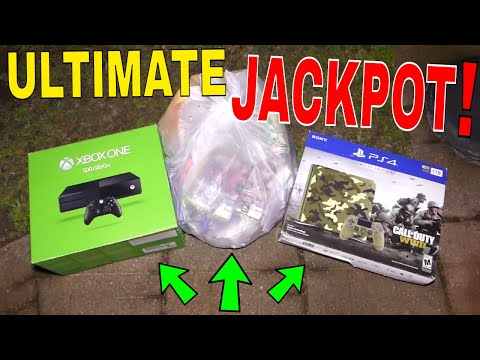 THE ULTIMATE VIDEO GAME JACKPOT!!! Dumpster Dive GAMESTOP Night #457