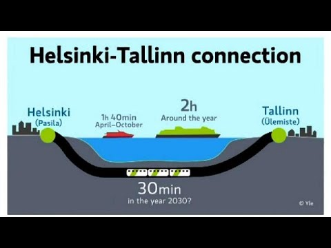 Finland and Estonia reveal costs of building undersea rail tunnel linking their two capitals.