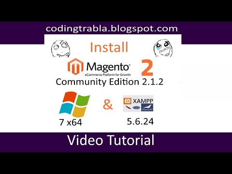 Install Magento CE 2.1.2 on Windows 7 localhost ( XAMPP 5.6.24 ) - open source PHP eCommerce