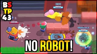 2 BRAWLERS DESTROY IKE with NO ROBOT! Top Plays in Brawl Stars #43