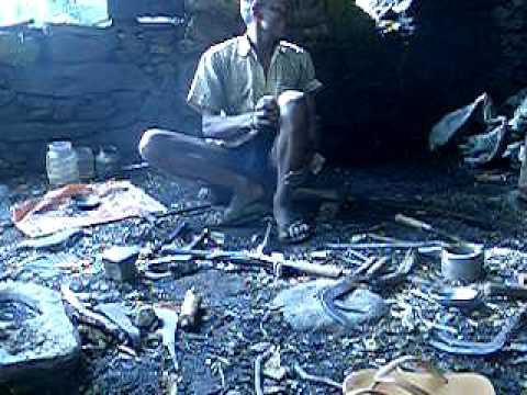 Nepali Blacksmith Part 2: reforming, sharpening an...