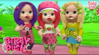 Play Doh Baby Alive Strawberry Shortcake, Cherry Jam, Lemon Meringue
