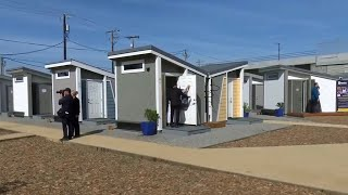 San Jose Opens Tiny-house Community To Shelter The Homeless