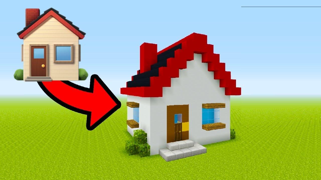 "Minecraft Tutorial: How To Make A Emoji House ""House Emoji ..."