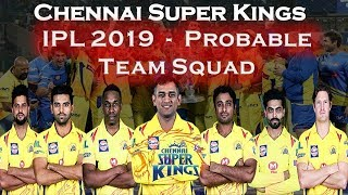 chennai super kings team squad