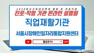 [서울시장애인일자리통합지원센터] 2020 특수교육대상학…