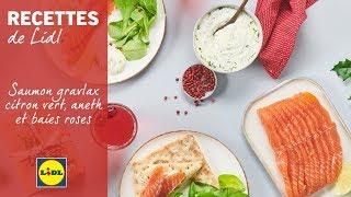 Saumon gravlax citron vert, aneth et baies roses | Lidl Recettes