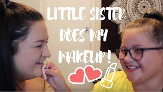 MY LITTLE SISTER DOES MY MAKEUP *hilarious*