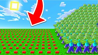 10,000 LANDMINES vs 10,000 ZOMBIES In MINECRAFT!